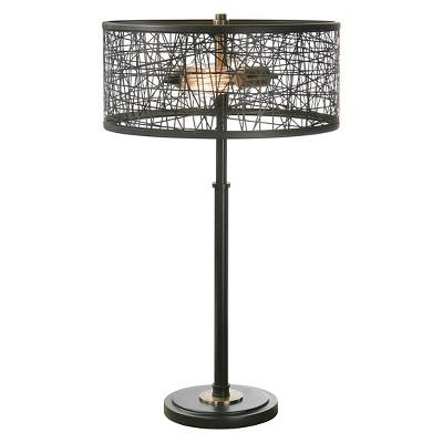 Uttermost Alita Drum Shade Lamp Includes Light Bulb - Black