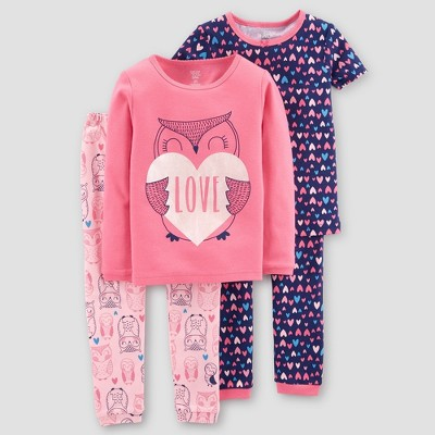 Just One You® made by carter's Girls' 4pc Candy Pajama Set - Pink
