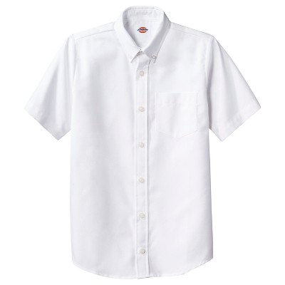 Dickies Boys' Short Sleeve Oxford Uniform Button-Down Shirt