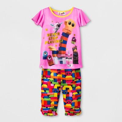 Toddler Girls' LEGO Movie 2pc Pajama Set - Pink