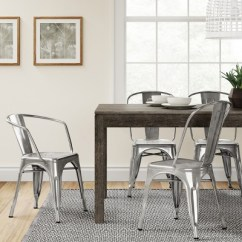 Silver Metal Dining Chairs Zeus Thunder Gaming Chair Carlisle High Back Fully Assembled Threshold Target