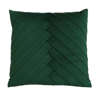 20 x20 oversize james pleated velvet square throw pillow dark green decor therapy