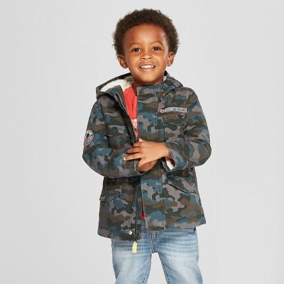 Toddler Boys' Camouflage Parka - Cat & Jack™ Blue