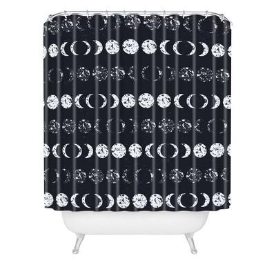 zoe wodarz under the moon shower curtain black white deny designs