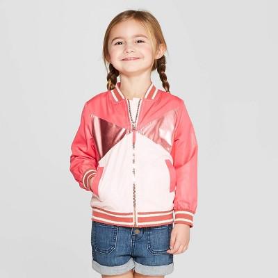 Genuine Kids® from OshKosh Toddler Girls' Bomber Jacket - Red/White