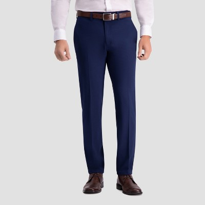 Haggar H26 Men's Slim Fit Premium Stretch Suit Pants - Bright Blue