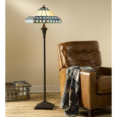 Camden Tiffany Floor Lamp With Dual Pull Chains - Plow & Hearth