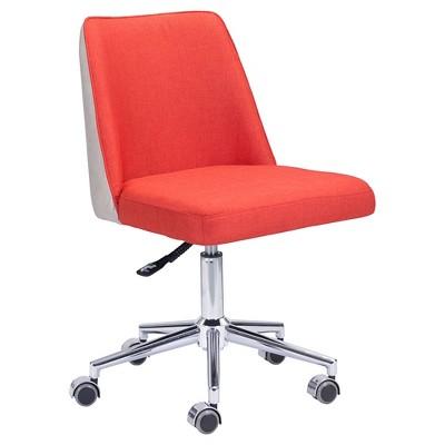 orange upholstered chair ball for office benefits modern adjustable bright beige zm home