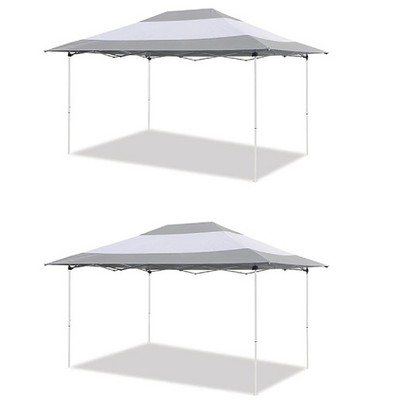 z shade 14 x 10 foot instant canopy outdoor patio shelter grey white 2 pack