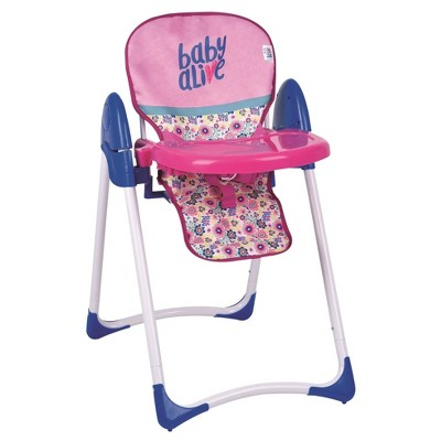 baby alive high chair best ergonomic reclining office doll deluxe target