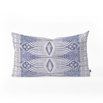 holli zollinger french geometric ikat lumbar throw pillow blue deny designs