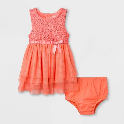 Baby Girls' Fairy Dress - Cat & Jack™ Coral
