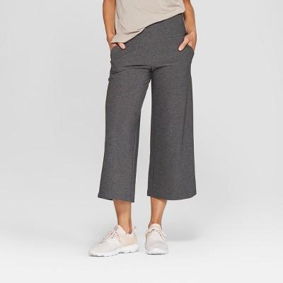 MPG Sport Women's High-Waisted Wide Leg Knit Crop
