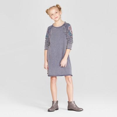 Girls' Fringe Dress - art class™ Blue