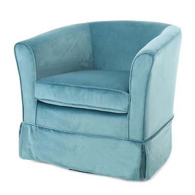 swivel club chair lafuma pop up chairs cecilia velvet blue christopher knight home fabric