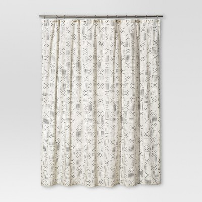 shapes shower curtain white threshold