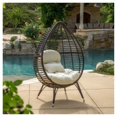 Patio Lounge Chairs Target Folding Directors Cutter Teardrop Wicker Chair With Cushion Brown Christopher Knight Home