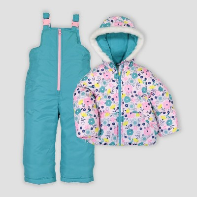 Toddler Girls' 2pc Floral Snowsuit Just One You® made by carter's Blue
