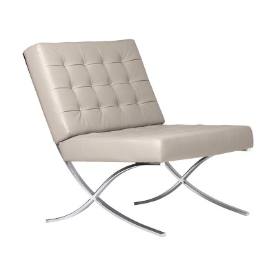 barcelona chair leather used facial studio designs home atrium bonded target