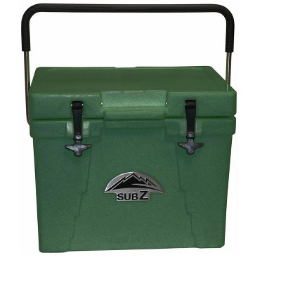 Sub Z 23 Quart Double Wall Insulated Portable Cooler With Handle, Forest Green