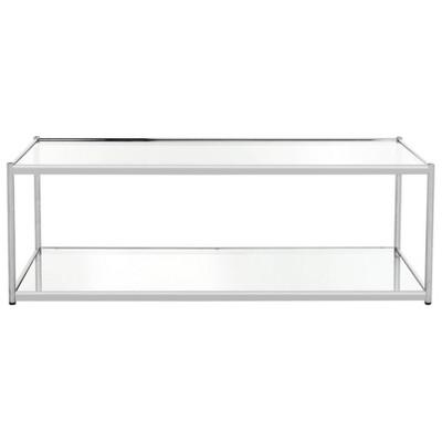 zola glass coffee table chrome safavieh