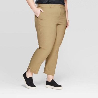 Women's Plus Size Mid-Rise Ankle Length Trouser - Prologue™