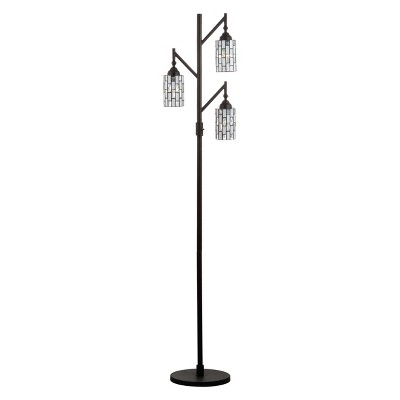 "71"" Lewis tiffany Style Multi Light LED Floor Lamp Bronze (Includes Energy Efficient Light Bulb) - JONATHAN Y"