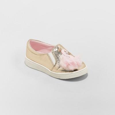 Toddler Girls' Isolde Swan Slip on Sneakers - Cat & Jack™ Gold
