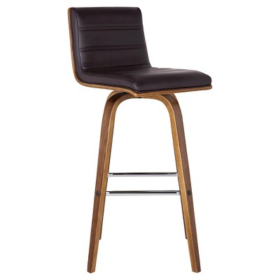 """Vienna 26"""" Faux Leather Counter stool - Brown - Armen Living"""