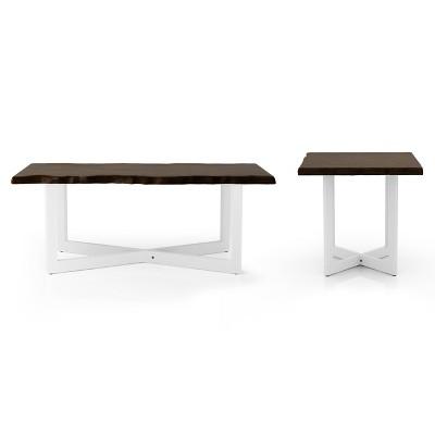 bedlin coffee and end tables set oak mibasics
