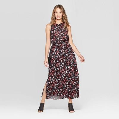 Women's Sleeveless Floral Print Maxi Dress - Universal Thread™