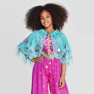 Girls' Aladdin Jasmine Cape - Light Turquoise