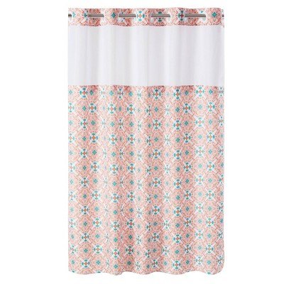 Vervain Medallion Shower Curtain with Liner - Hookless