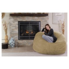 Foam Bean Bag Chair Swivel With Ottoman Relax Sack 5 Ft Large Memory Target