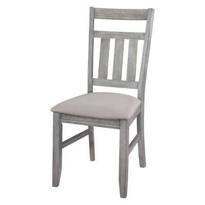 gray side chair corner set of 2 landon distressed wash powell company target