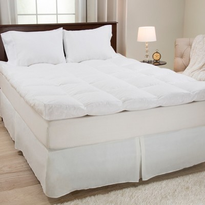 down duck feather 4 gusset mattress topper twin white yorkshire home