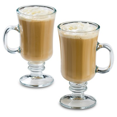 Libbey 8oz Milan Irish Coffee Glass Mug 4pk Set