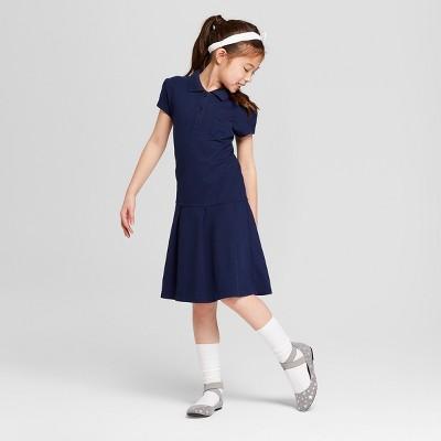 Girls' Uniform Tennis Shirt Dress - Cat & Jack™ Navy