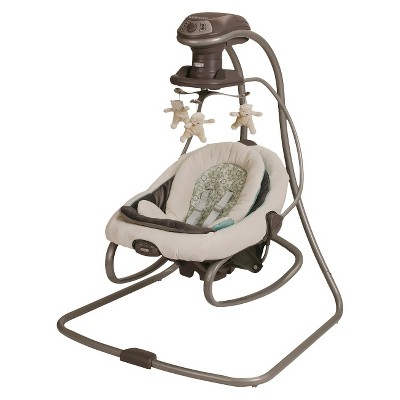 baby swing vibrating chair combo giant pillow graco duetsoothe and rocker target