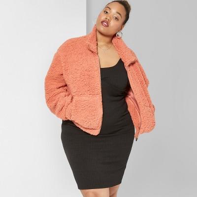 Women's Plus Size Sleeveless Underwire Knit Bodycon Midi Dress - Wild Fable™ Black