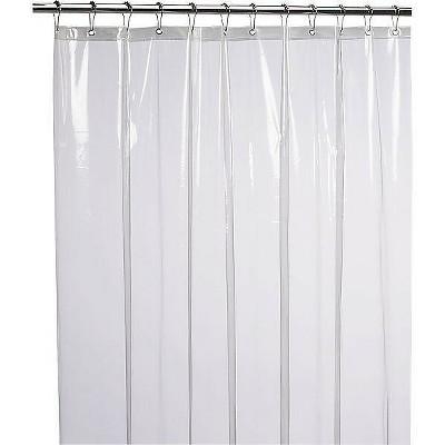 kate aurora hotel heavy duty 10 gauge vinyl shower curtain liners super clear 54 x 78 stall shower curtain liner