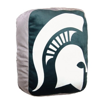 ncaa michigan state spartans cloud pillow