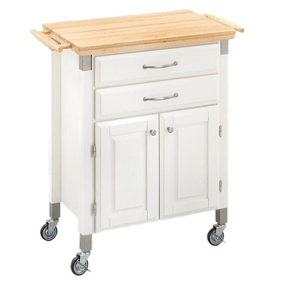 home styles kitchen cart cost of renovating a dolly madison wood white target