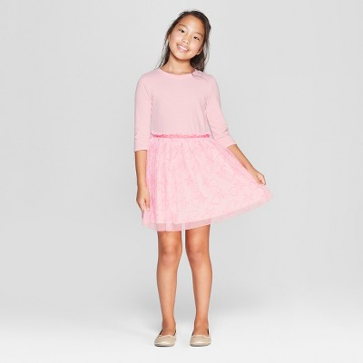 Girls' XO Valentine's Day Dress - Cat & Jack™ Pink
