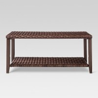 Halsted Wicker Rectangle Patio Coffee Table - Brown ...