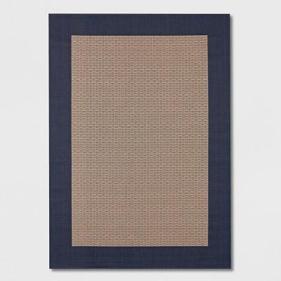 6 x 9 frame outdoor rug navy smith hawken