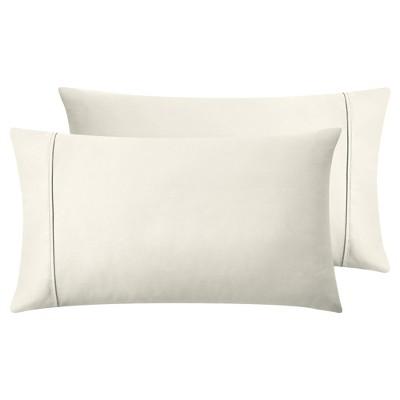 off white standard pillowcases 400 thread count 100 cotton pillow cases california design den