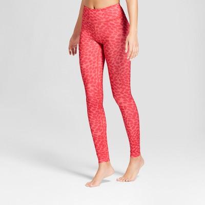 Women's Dot Print Performance Mid-Rise Leggings - JoyLab™ Deep Sea Coral