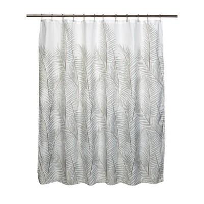lancaster shower curtain green white moda at home