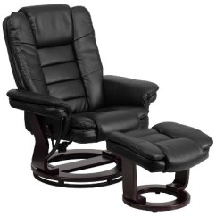 Recliner Vs Chair With Ottoman Design Logo Leather And Black Belnick Target